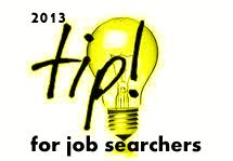 job search tip yellow